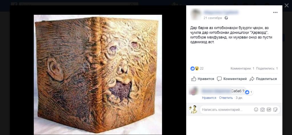 Манипуляция и фейк: Обложка книги из человеческой кожи