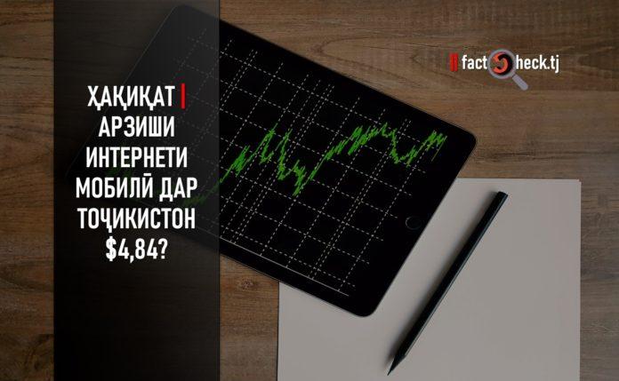 Ҳақиқат | Арзиши Интернети мобилӣ дар Тоҷикистон $4,84? (инфографика)