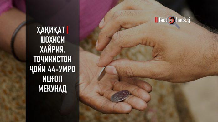 Ҳақиқат | Шохиси хайрия. Тоҷикистон ҷойи 44-умро ишғол мекунад