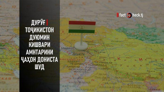 Дурӯғ | Тоҷикистон дуюмин кишвари амнтарини ҷаҳон дониста шуд